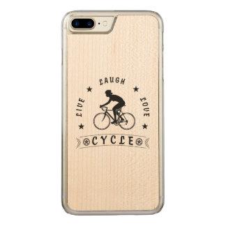 Capa iPhone 8 Plus/ 7 Plus Carved Texto da Vida Riso Amor Ciclo da senhora (preto)