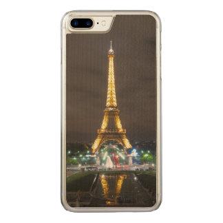 Capa iPhone 8 Plus/ 7 Plus Carved Torre Eiffel na noite, Paris