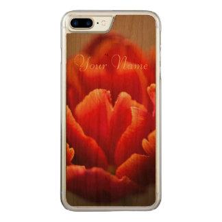 Capa iPhone 8 Plus/ 7 Plus Carved Tulipa vermelha