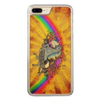 Capa iPhone 8 Plus/ 7 Plus Carved Unicórnio da sobrecarga, arco-íris & bordo
