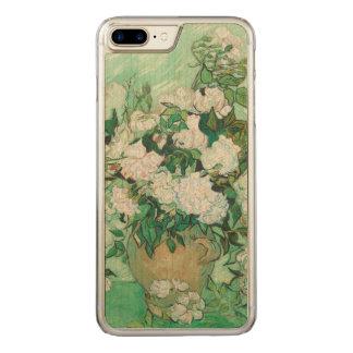 Capa iPhone 8 Plus/ 7 Plus Carved Vaso de Vincent van Gogh com rosas cor-de-rosa