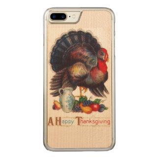 Capa iPhone 8 Plus/ 7 Plus Carved Vintage feliz da acção de graças