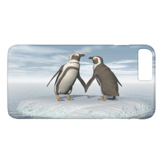 Capa iPhone 8 Plus/7 Plus Casal dos pinguins