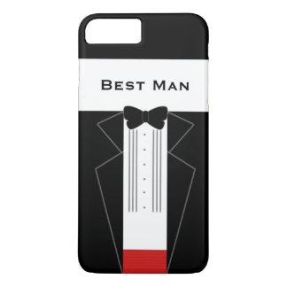Capa iPhone 8 Plus/7 Plus Casamento do homem do smoking engraçado o melhor