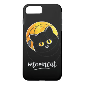 Capa iPhone 8 Plus/7 Plus Case with a cat in front of the yellow moon