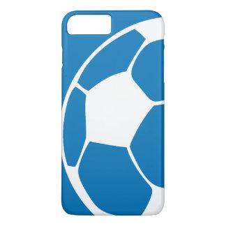 Capa iPhone 8 Plus/7 Plus Caso abstrato do iPhone 5 do futebol do azul