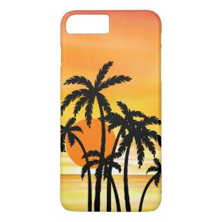 Capa iPhone 8 Plus/7 Plus Caso cénico de Smartphone da praia do por do sol