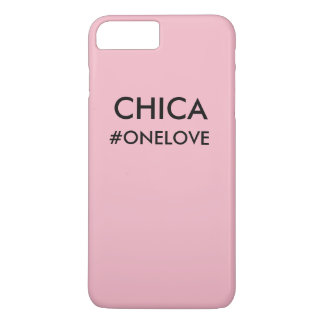 Capa iPhone 8 Plus/7 Plus Caso cor-de-rosa de CHICA