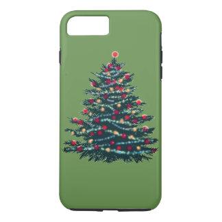 Capa iPhone 8 Plus/7 Plus Caso de Bacground do verde da árvore do feriado