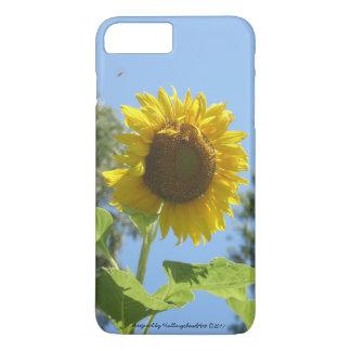 Capa iPhone 8 Plus/7 Plus caso de iPhone/iPad, girassol brilhante