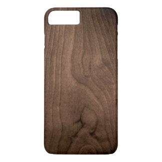 Capa iPhone 8 Plus/7 Plus Caso de madeira de mogno profundo do iPhone 7 da