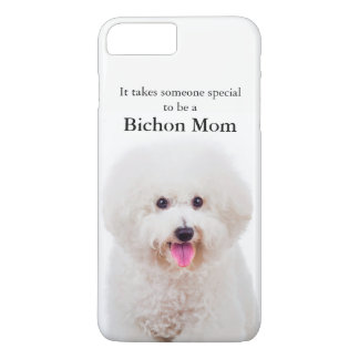 Capa iPhone 8 Plus/7 Plus Caso de Smartphone da mamã de Bichon