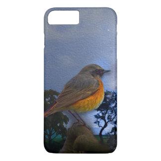 Capa iPhone 8 Plus/7 Plus caso do iPhone 7 com ilustração bonita do pássaro
