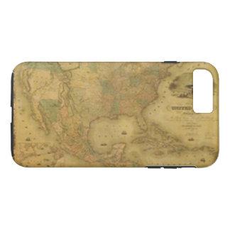 Capa iPhone 8 Plus/7 Plus Caso do iPhone 7 do mapa dos EUA
