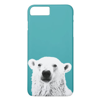 Capa iPhone 8 Plus/7 Plus Caso do iPhone 7 do urso polar