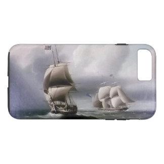 Capa iPhone 8 Plus/7 Plus Caso do iPhone 7 dos mares da batalha do navio de