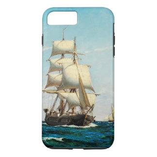 Capa iPhone 8 Plus/7 Plus Caso do iPhone 7 dos mares do navio da fragata da
