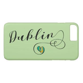 Capa iPhone 8 Plus/7 Plus Caso do telemóvel do coração de Dublin, Ireland