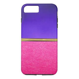 Capa iPhone 8 Plus/7 Plus Caso magro do iPhone 7 cor-de-rosa da textura da