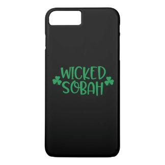 Capa iPhone 8 Plus/7 Plus Caso mau do telemóvel de Sobah, fundo preto