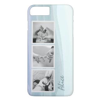 Capa iPhone 8 Plus/7 Plus Caso positivo do iPhone 7 azuis da aguarela da