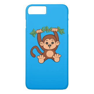 Capa iPhone 8 Plus/7 Plus Caso positivo do iPhone 7 bonitos do macaco dos