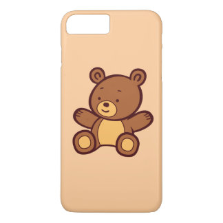Capa iPhone 8 Plus/7 Plus Caso positivo do iPhone 7 bonitos do urso de