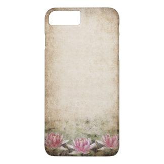 Capa iPhone 8 Plus/7 Plus Caso positivo do iPhone 7 cor-de-rosa do Grunge de
