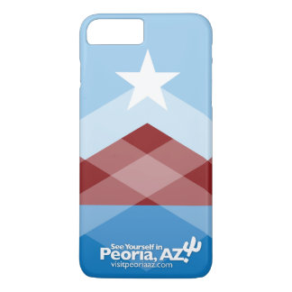 Capa iPhone 8 Plus/7 Plus Caso positivo do iPhone 7 da bandeira de Peoria