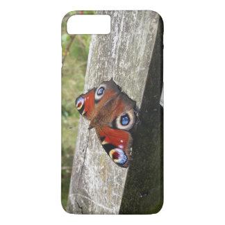 Capa iPhone 8 Plus/7 Plus Caso positivo do iPhone 7 da borboleta de pavão