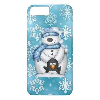 Capa iPhone 8 Plus/7 Plus Caso positivo do iPhone 7 do boneco de neve do