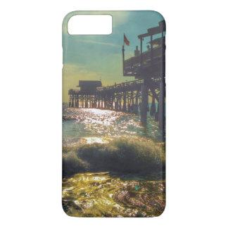 Capa iPhone 8 Plus/7 Plus Caso positivo do iPhone 7 do cais da praia do
