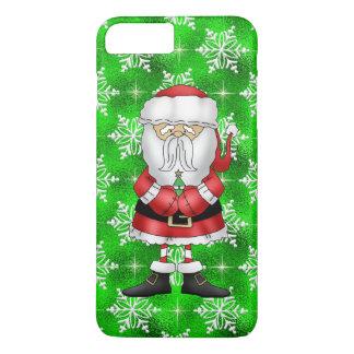 Capa iPhone 8 Plus/7 Plus Caso positivo do iPhone 7 do papai noel do Natal