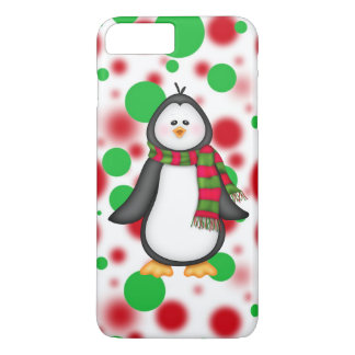 Capa iPhone 8 Plus/7 Plus Caso positivo do iPhone 7 do pinguim do Natal mal