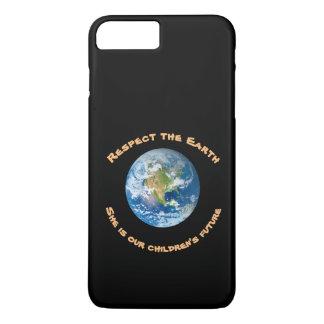 Capa iPhone 8 Plus/7 Plus Caso positivo do iPhone 7 do respeito da terra do