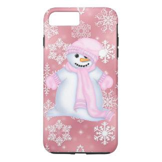 Capa iPhone 8 Plus/7 Plus Caso positivo do iPhone 7 do rosa do boneco de