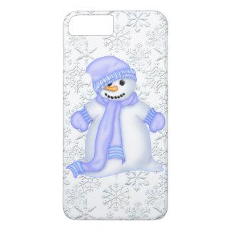 Capa iPhone 8 Plus/7 Plus Caso positivo do iPhone 7 dos snowflae do boneco