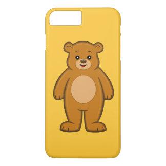 Capa iPhone 8 Plus/7 Plus Caso positivo do iPhone 7 felizes do urso dos