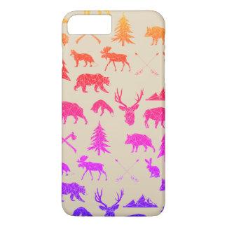 Capa iPhone 8 Plus/7 Plus Caso positivo do iPhone 7 geométricos dos animais