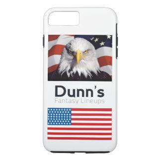 Capa iPhone 8 Plus/7 Plus caso positivo do iPhone 7 patriótico (branco)