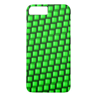 Capa iPhone 8 Plus/7 Plus Caso positivo do iPhone 7 verdes dos quadrados mal