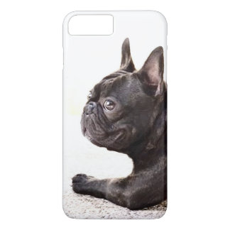 Capa iPhone 8 Plus/7 Plus Caso positivo do iPhone 8 do buldogue francês