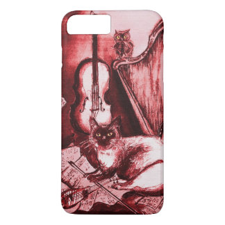 Capa iPhone 8 Plus/7 Plus CAT, vermelho e branco MUSICAIS