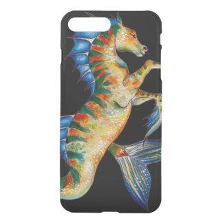 Capa iPhone 8 Plus/7 Plus cavalo marinho no preto
