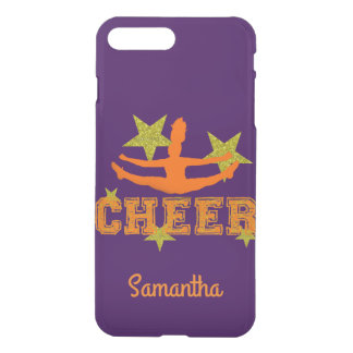 Capa iPhone 8 Plus/7 Plus Cheerleader roxo caixa personalizada do iphone 7