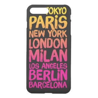 Capa iPhone 8 Plus/7 Plus Cidades favoritas de néon
