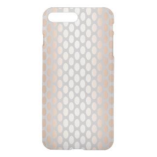 Capa iPhone 8 Plus/7 Plus Cinza cor-de-rosa do teste padrão de bolinhas do