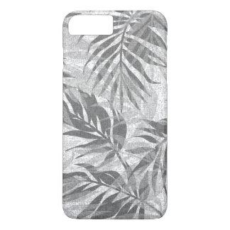 Capa iPhone 8 Plus/7 Plus Cinzas tropicais havaianas do vintage das palmas