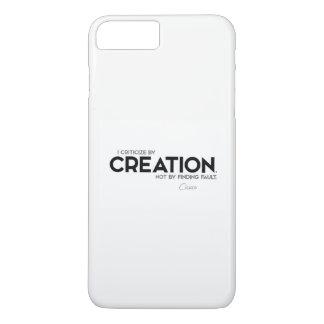 Capa iPhone 8 Plus/7 Plus CITAÇÕES: Cicero: Critique pela criação