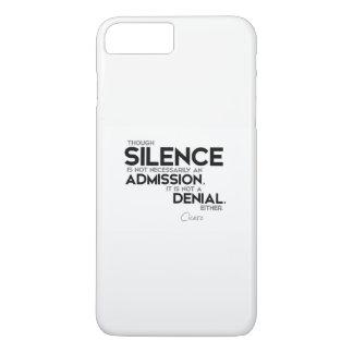 Capa iPhone 8 Plus/7 Plus CITAÇÕES: Cicero: Silêncio, admissão, recusa